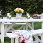 белый дачный столик своими руками
