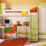 детская кровать-чердак с рабочек зоной