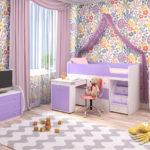 детская кровать-чердак для девочки