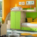 детская кровать-чердак с диваном снизу