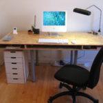 прямой компьютерный стол своими руками