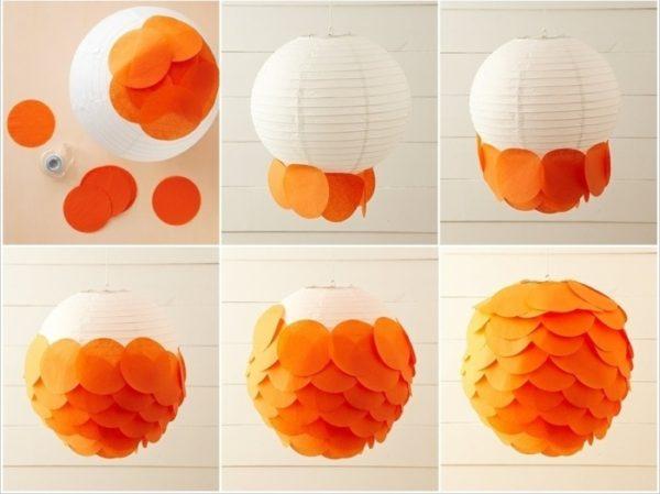 пошаговая инструкция создания плафона в виде шишки