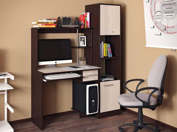 компьютерный стол с шкафчиком сбоку