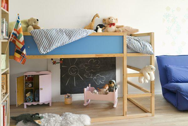 фото кровати-чердака с игровой зоной