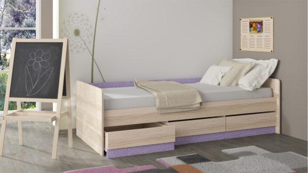 кровать подростка с ящиками под белье