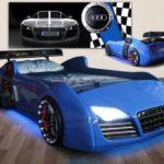кровать-машина синяя ауди
