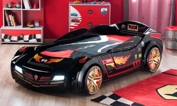 фото кровати-машины черной