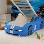 кровать-машина голубая