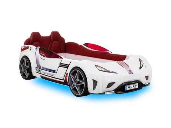 кровать-машина гоночная белая