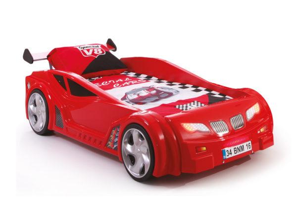 кровать-машина для гонок красная