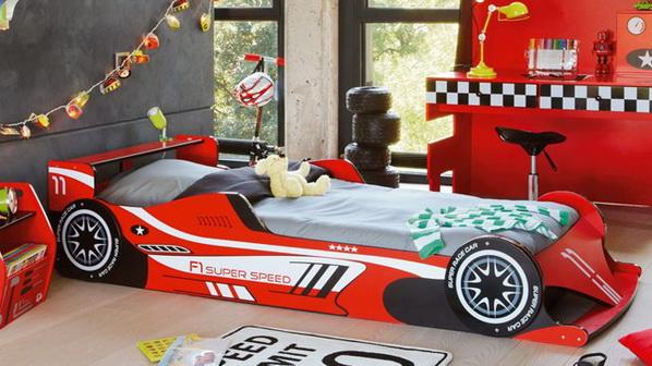 гоночная кровать-машина красная