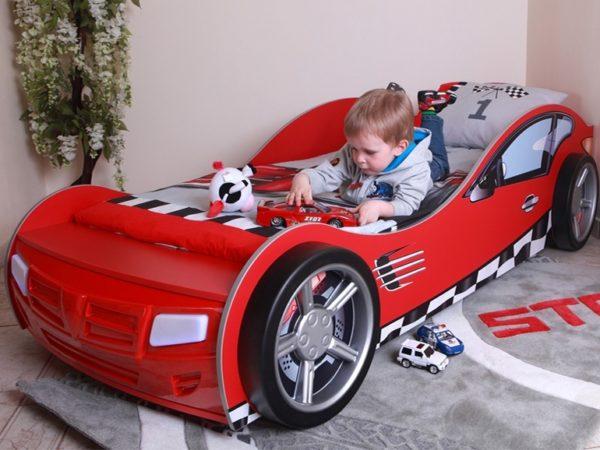фото кровати-машины для мальчика