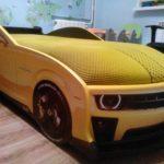 кровать-машина желтая в домашних условиях