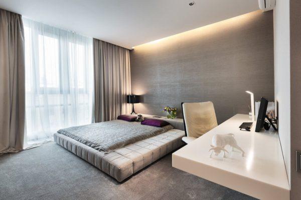 кровать-подиум обычная для подростка