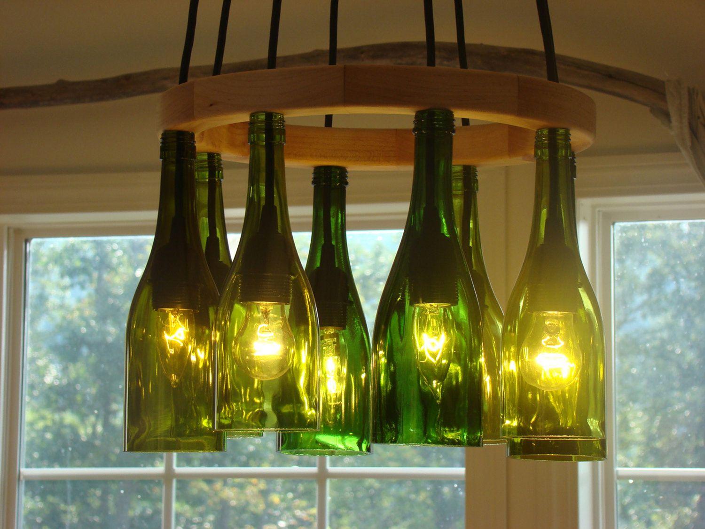 Светильники своими руками из стекла 106