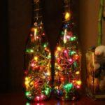 ночник из бутылок с гирляндами