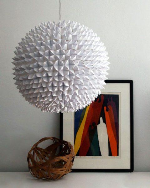 плафон из оригами