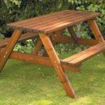 обычный стол с двумя скамьями своими руками