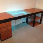 компьютерный стол своими руками с подсветкой