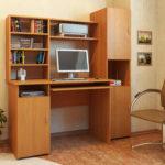 компьютерный стол с полками и шкафом