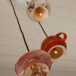 плафоны для люстры из чашек