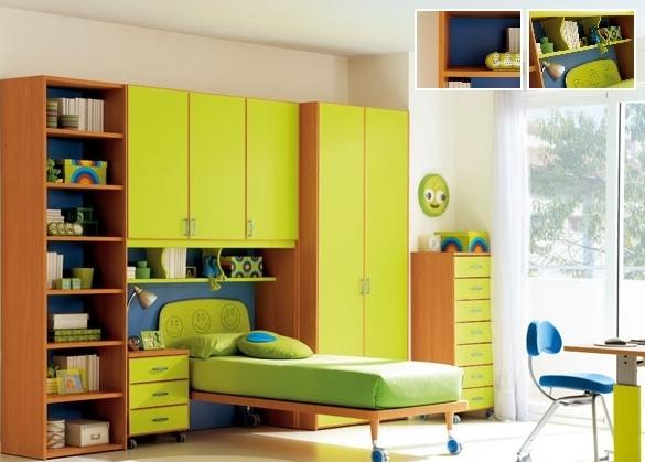 зеленая кровать для подростка