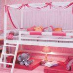 высокая кровать девочки
