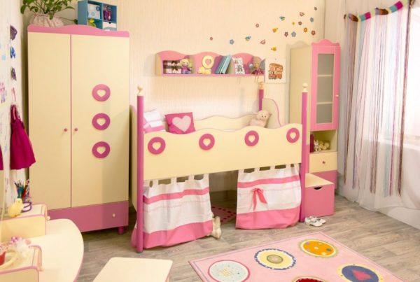 кровать чердак девочки