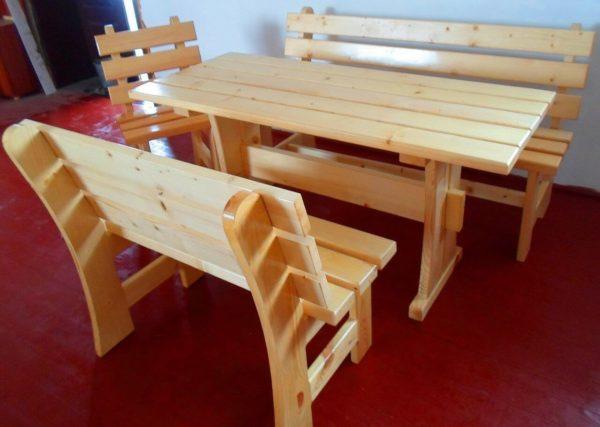 стол и скамья из дерева своими руками