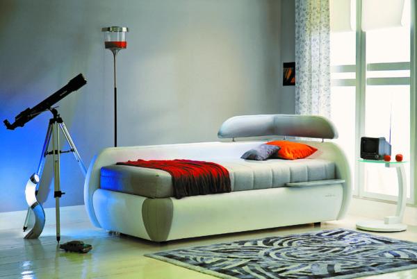 кровать подростка в интерьере