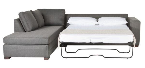фото серого дивана с ортопедическим матрасом