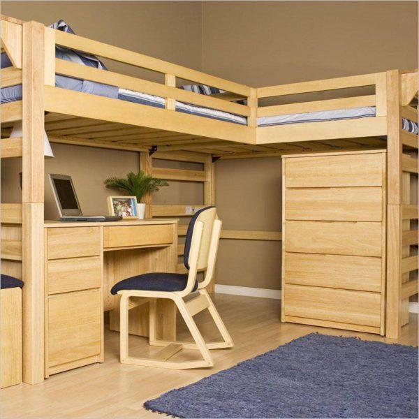 фото двухместной кровати-чердака