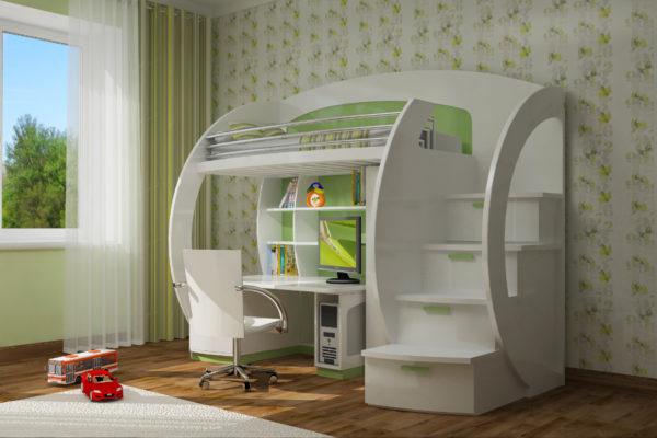 фото оригинального дизайна кровати-чердака
