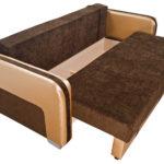 коричневый диван кровать