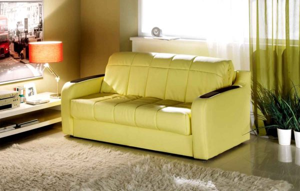 салатовый диван кровать с матрасом
