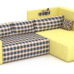 клетчатый диван кровать