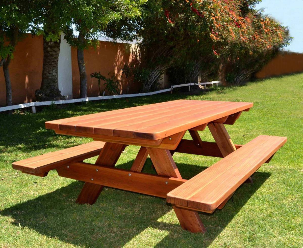Садовые столы деревянные своими руками