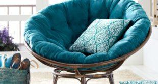 круглое кресло с подушкой