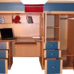 чердак-кровать с рабочим столом