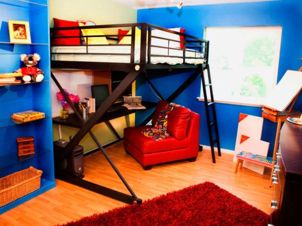 двухэтажная подростковая спальня