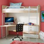 кровать-чердак с рабочим столом внизу
