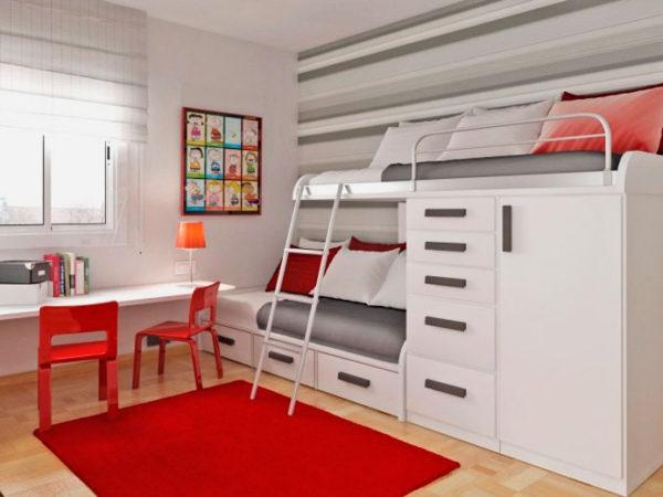 кровать-чердак с ортопедическим матрасом