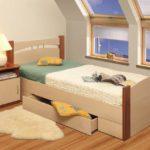 кровать подростка с ящиками
