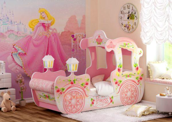 кровать в виде кареты
