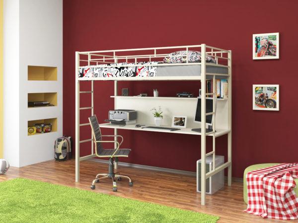 минималистичная кровать-чердак