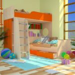 кровать-чердак для девочки подростка