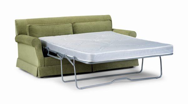 зеленый ортопедический диван