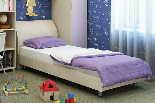 кровать для подростка сиреневая