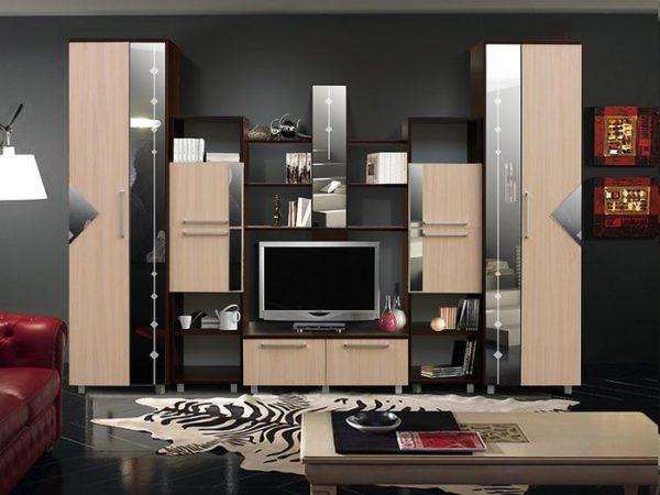 модульная стенка со шкафом для одежды