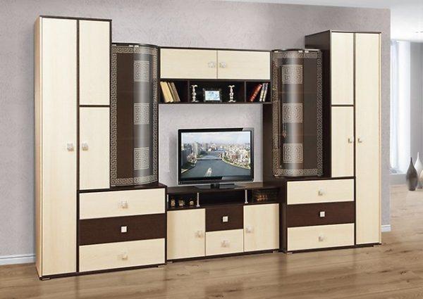 стенка со шкафом для одежды и ящиками